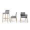 moderner Stuhl / Polster / Stoff / aus Buche
