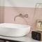 Einhebelmischer für Waschtisch / wandmontiert / Edelstahl / Badezimmer
