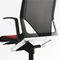 moderner Sessel für Büro / Stoff / mit Rollen / sternförmiger Fuß