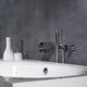 Einhebelmischer für Badewanne / wandmontiert / verchromtes Metall / für Badezimmer
