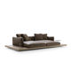 modernes Sofa / Leder / Stoff / von Piero Lissoni