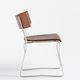 moderner Stuhl / Kufen / aus Eiche / aus Nussbaum