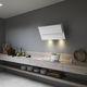 wandmontierter Dunstabzug / mit integrierter Beleuchtung / originelles Design