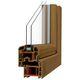 Flügelfenster / aus PVC / Doppelverglasung / Akustik