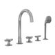 Mischbatterie für Badewanne / frei stehend / verchromtes Metall / für Badezimmer