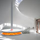 elektrischer Kamin / originelles Design / offene Feuerstellen / mit Aufhängung