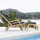 Sessel / Skandinavisches Design / schrägstellbar / mit abnehmbarem Kissen / mit Fußstütze