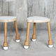 moderne Hocker / Holz / Stapel