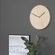 moderne Uhr / Analog / wandmontiert / Stahl
