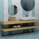 Fliese für Badezimmer / Wandmontage / aus Keramik / poliert