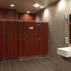 Laminat-Toilettenkabine / Edelstahl