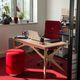 Schreibtisch / lackiertes Holz / modern / Objektmöbel