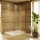 einflügelige Duschwand / feststehend / für Eckeinbau