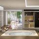Hot-Tub / Einbau / quadratisch / 6 Plätze / für Innenbereich