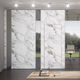 abnehmbare Trennwand / Glas / Stoff / aus Marmor