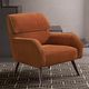 moderner Sessel / Stoff / aus Chrom