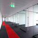 festinstalliertes Trennwandsystem / Glas / für Besprechungsraum