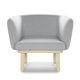 moderner Sessel / Gewebe / Holz