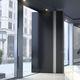 Eingangstür / drehend / Aluminium / Kohlefaser