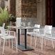 moderner Stuhl / mit Armlehnen / aus Polypropylen / Glasfaser