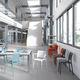 moderner Stuhl / aus Polypropylen / Glasfaser / Contract