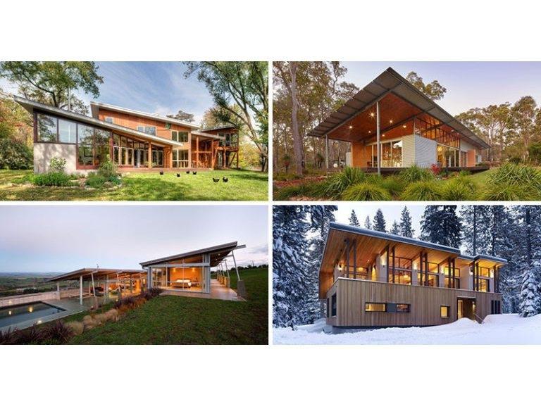16 Beispiele Von Modernen Hausern Mit Einem Geneigten Dach 1148 Nw