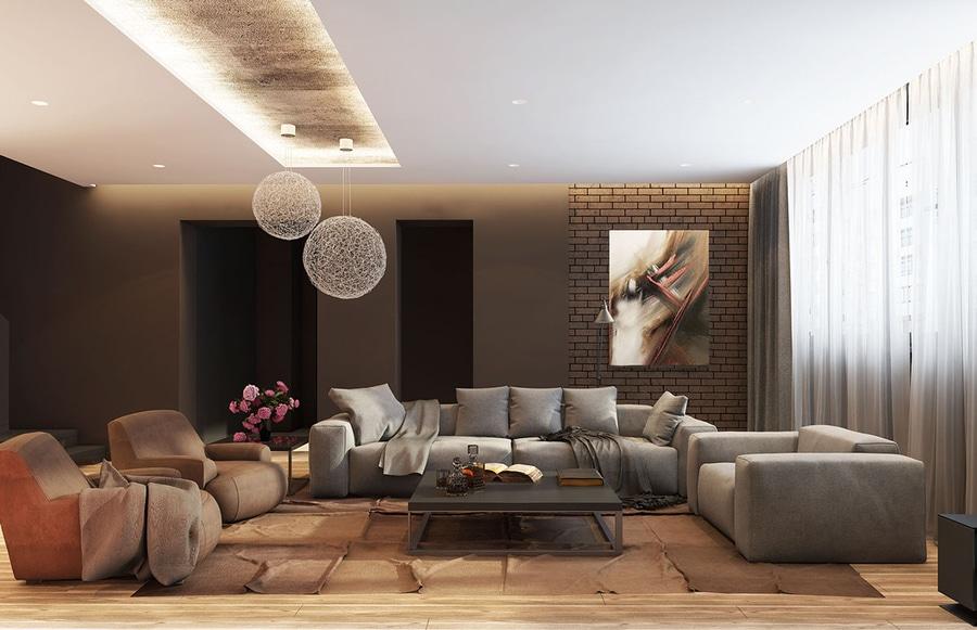 5 Wohnzimmer Mit Unterzeichnung Beleuchtung Arten