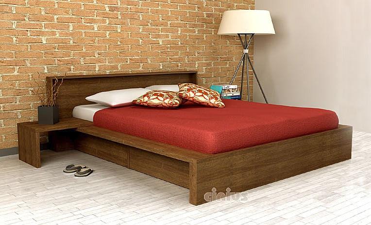 Bett Comodo Mit Einem Paar Unterbett Schubladen Cinius