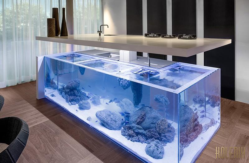 Diese Kuche Insel Hat Ein Aquarium Innerhalb Sie Amsterdam