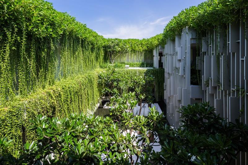 Dieser Neue Erholungsort Badekurort Wird In Hängenden Gärten Bedeckt