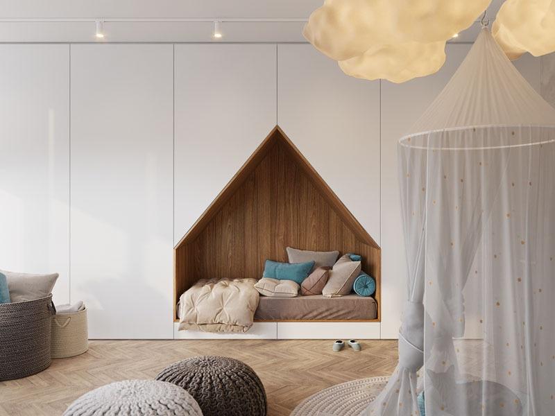 Dieser Schlafzimmer Entwurf Fur Einen Jugendlichen Kennzeichnet Ein