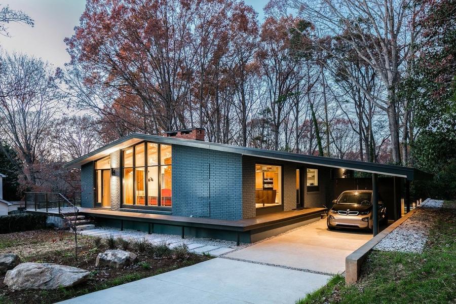 Dieses Mitte  Des Jahrhundertsmoderne Haus In Nord Neuer Aktualisierung  Carolina Receiveds A