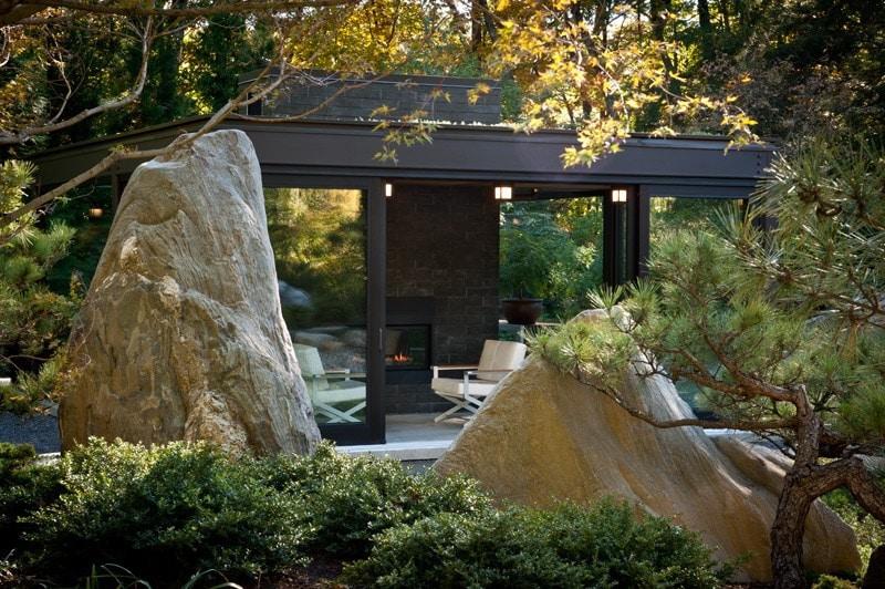ein glashaus im garten - boston, ma, usa, Hause und garten