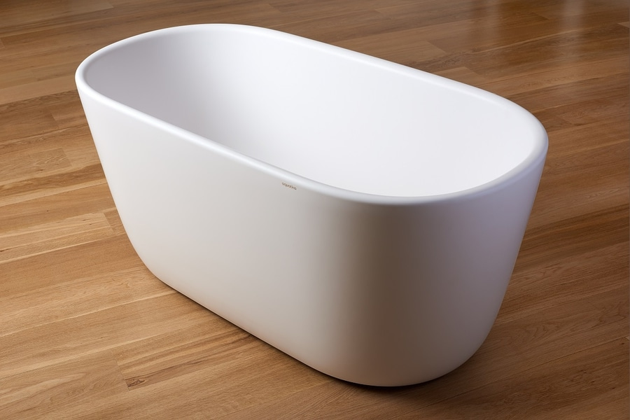 Vasca Da Bagno Freestanding Piccola : Lullaby wht von aquatica calgary ab canada aquatica plumbing