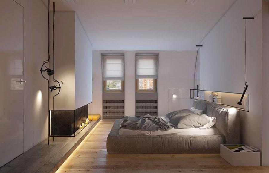 Fußboden Schlafzimmer ~ Ein schlafzimmer 2 flach in kiew mit glatten zeitgenössischen