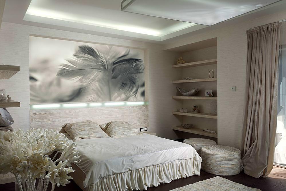 Sechs Schöne Schlafzimmer Mit Den Weichen Und Freundlichen  Entwurfs Elementen