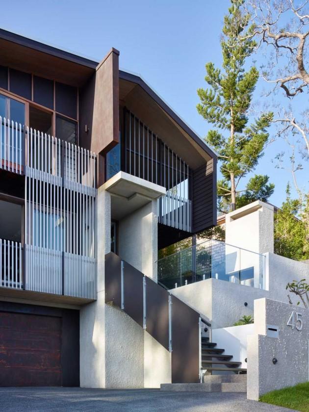 Shaun Lockyer Architekten Entwerfen Ein Haus Auf Einem Steilen