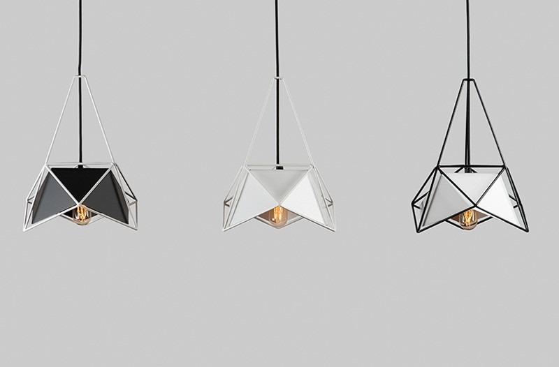 Lampe mit geometrischem Design von SHIFT im Auftrag von Lampslite