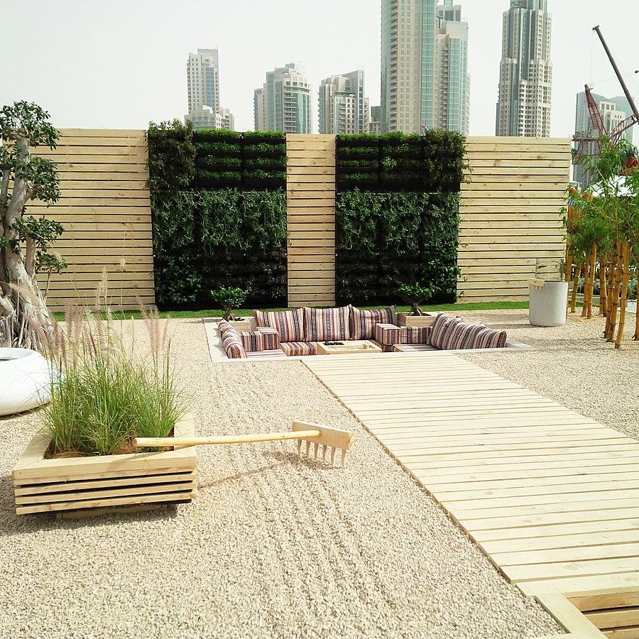 Vertiss Grüne Wand Zugesprochen Am Dubai Internationalen Garten