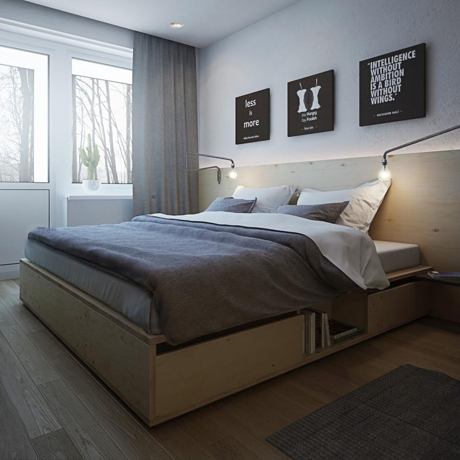 Wohnungs-Entwürfe für eine kleine Familie, ein junges Paar und einen ...