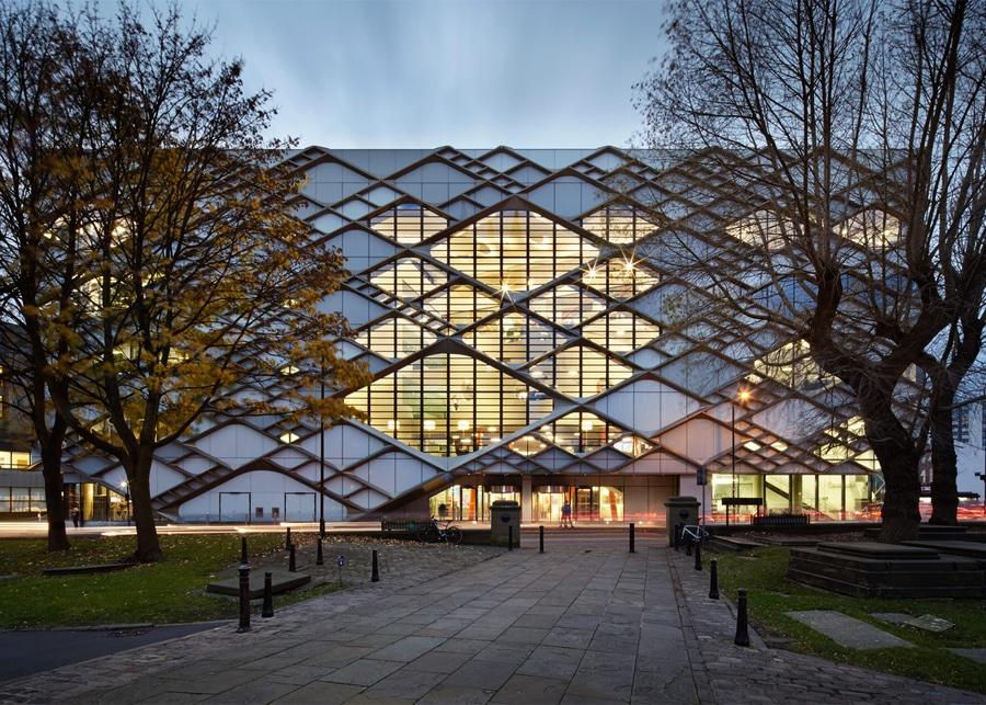 Fassade Architektur zwölf architekten wendet diamant gekopierte fassade am sheffield