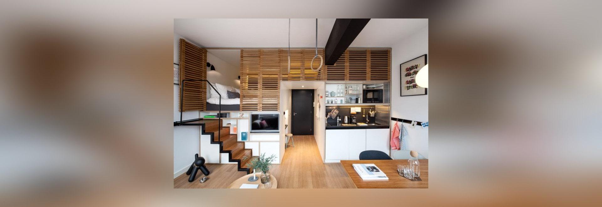 4 ehrfürchtige kleine Studio-Wohnungen mit Lofted Betten - United ...