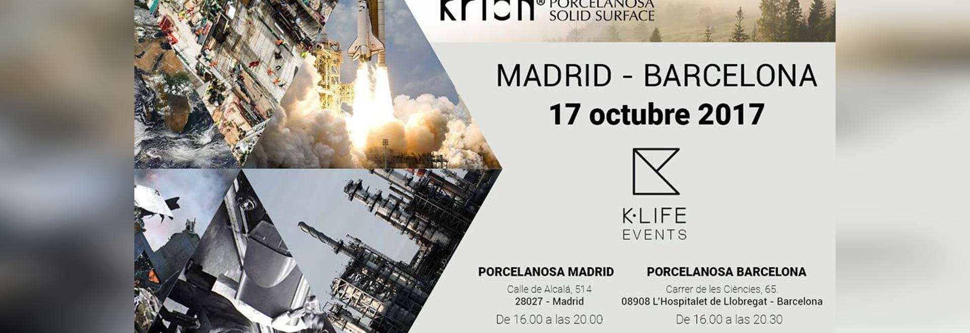 Am kommenden 17. Oktober wird KRION K-LIFE gleichzeitig in Madrid und Barcelona präsentiert