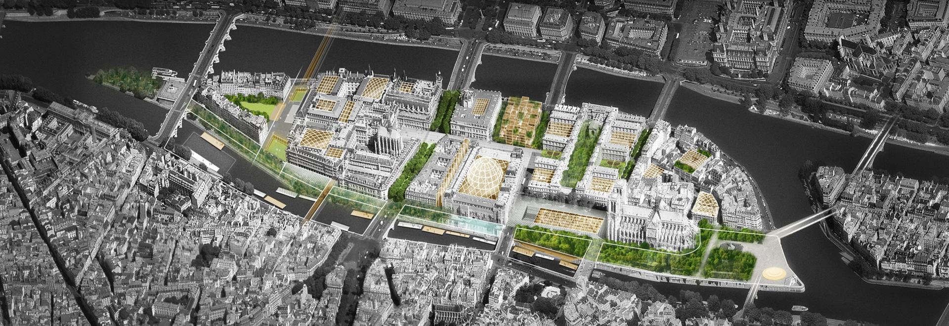 bélaval Dominique-perrault + -philippe schlagen eine viel versprechende Zukunft für Île de la Cité in Paris vor