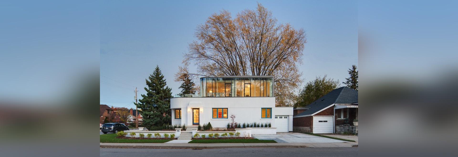 Dieses Dreißigerjahre Stromlinie-Moderne Haus erhielt eine ...