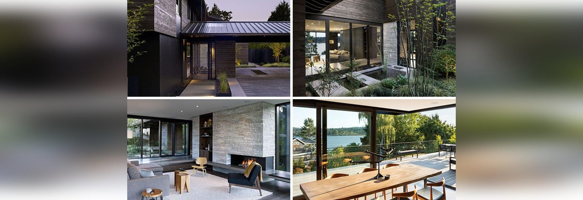 Dieses sechziger Jahre Haus in Seattle wurde eine zeitgenössische ...