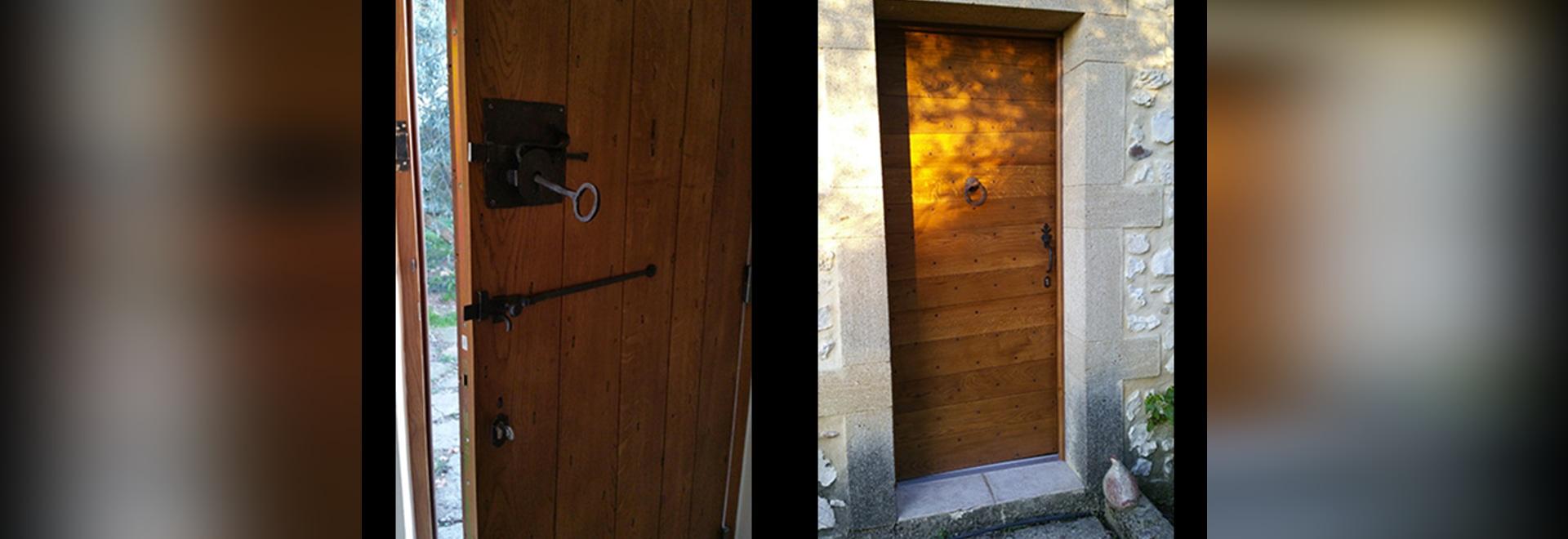 Eine einfache Tür, die Charme hat ...