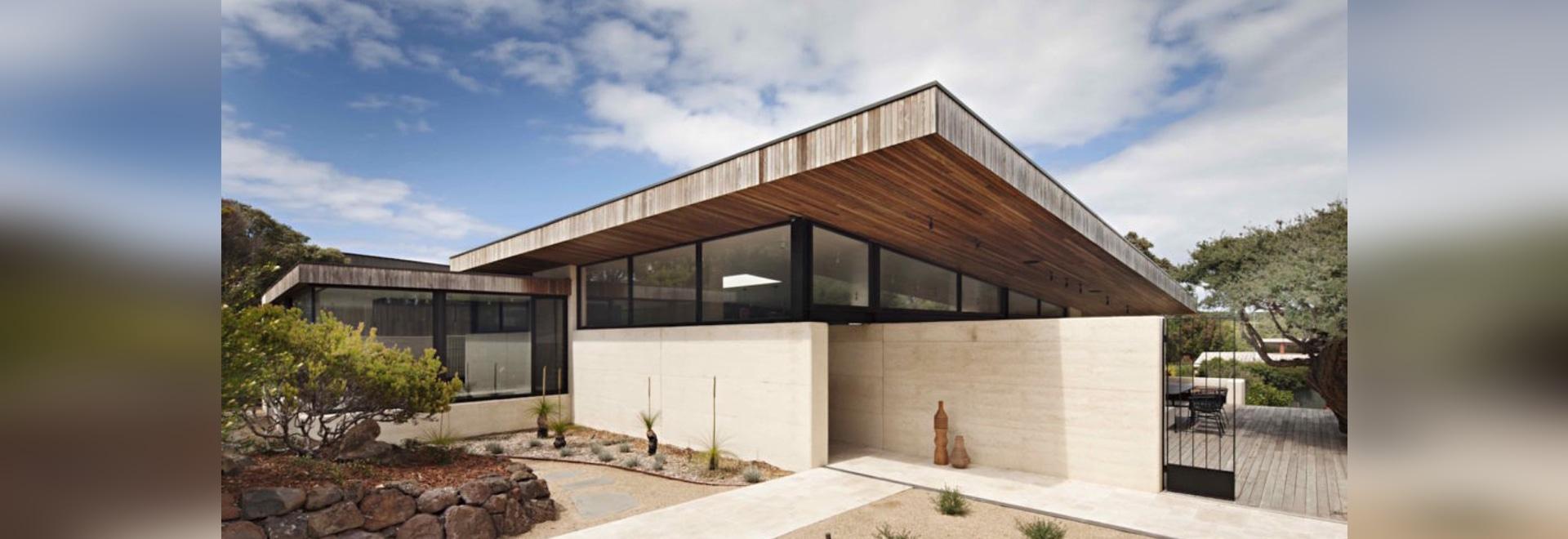 Elegantes australisches Haus zeigt die Schönheit und die Härte von ...