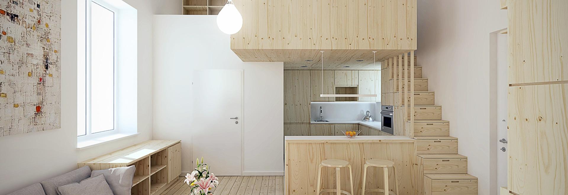 Entwerfen für super kleine Räume: 5 Mikrowohnungen - Romania