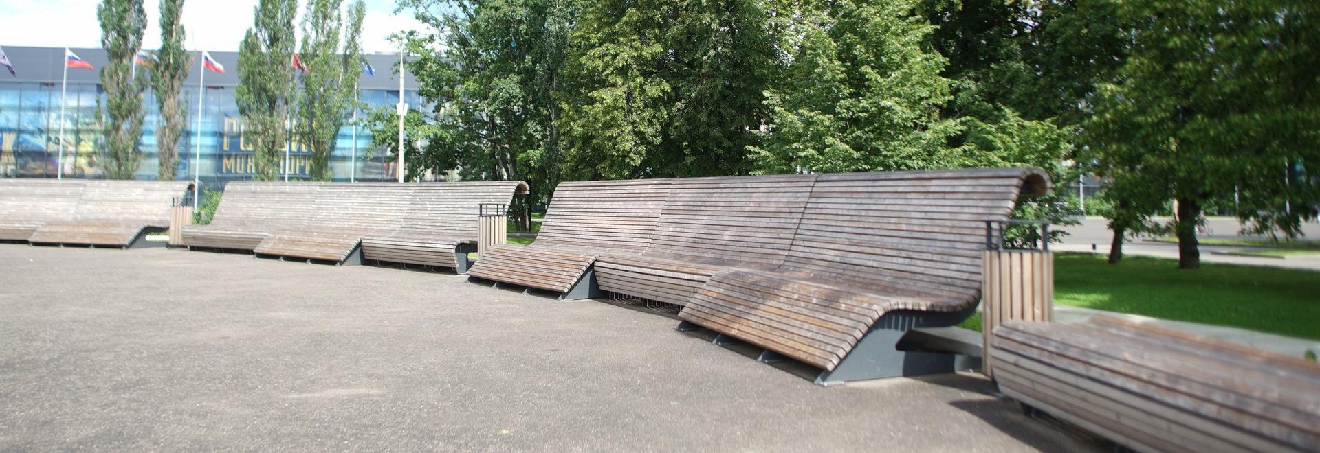 Fläche in 57 Pavillons im VDNKh, Moskau